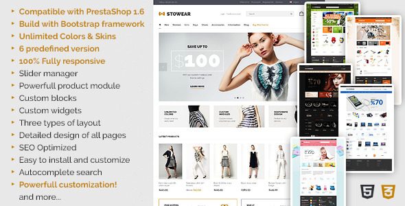 Stowear is multi-purpose theme for your PrestaShop