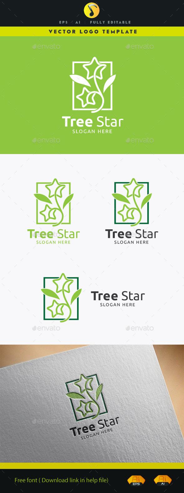 Tree Star - Nature Logo Templates