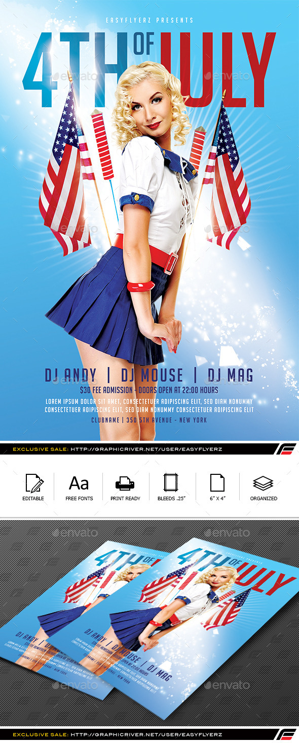 4TH of July Flyer Template Vol.01 - Events Flyers