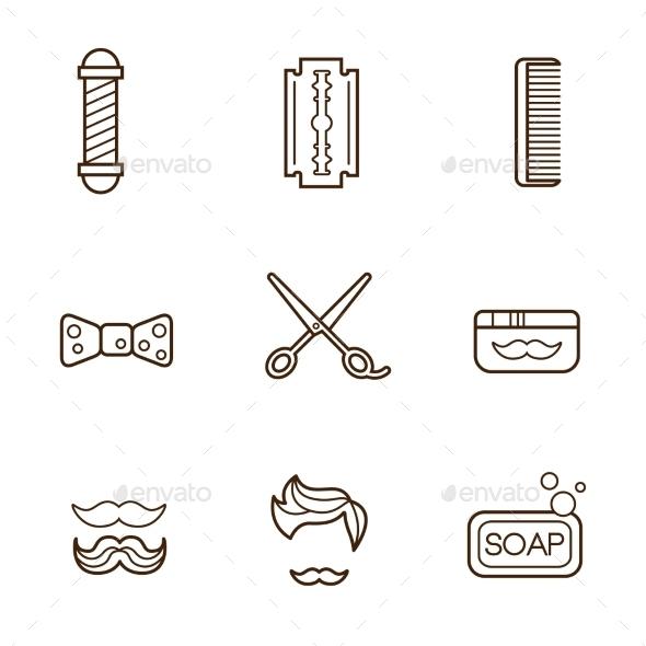 Barber Icons - Miscellaneous Vectors