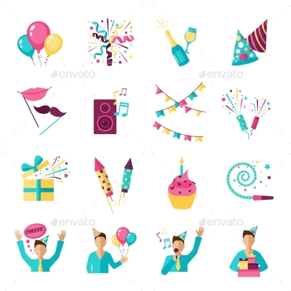 Party Icons Set - Miscellaneous Icons