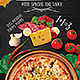 Hipster Hot Pizza Party Flyer\Poster Template - GraphicRiver Item for Sale