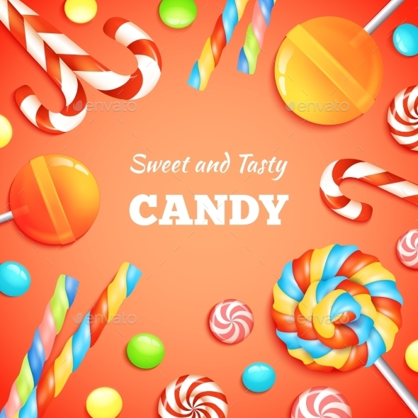 Sweets And Candies Background - Food Objects