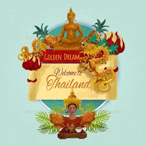 Thailand Touristic Poster - Travel Conceptual