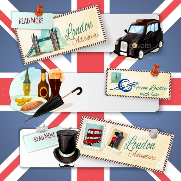 London Touristic Banner Set - Travel Conceptual