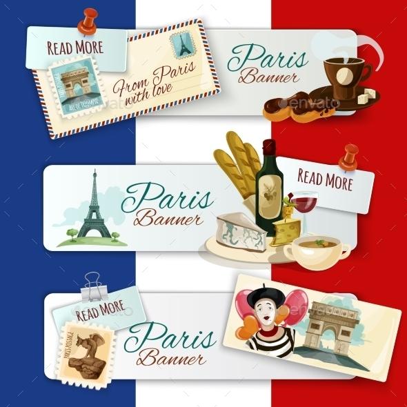 Paris Touristic Banners - Travel Conceptual