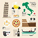 Italy Flat Icons Design Travel Concept - GraphicRiver Item for Sale