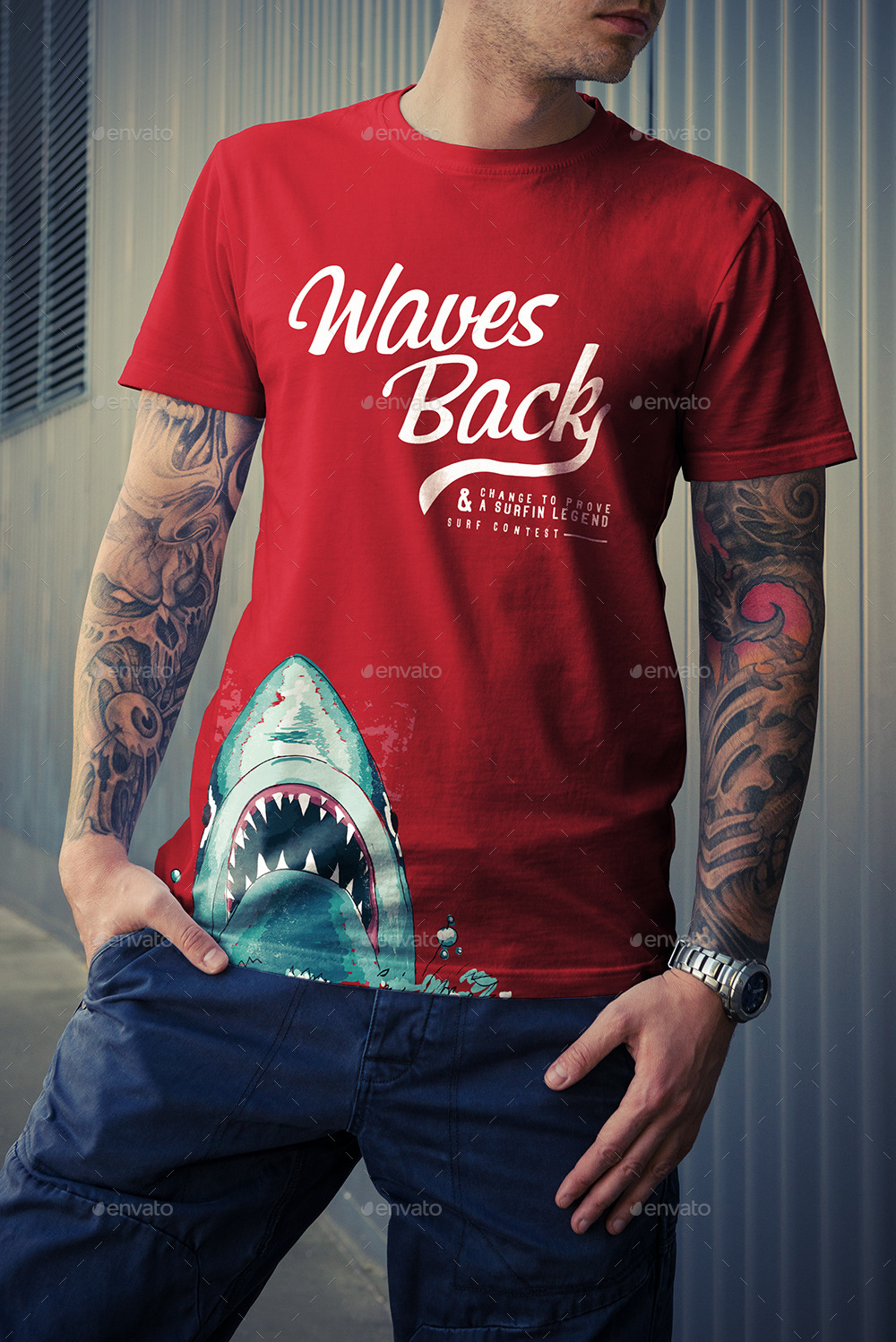 T-Shirt Mock-Up / Street Edition by Genetic96 | GraphicRiver