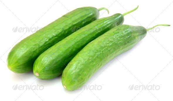 The fresh green cucumber - Stock Photo - Images