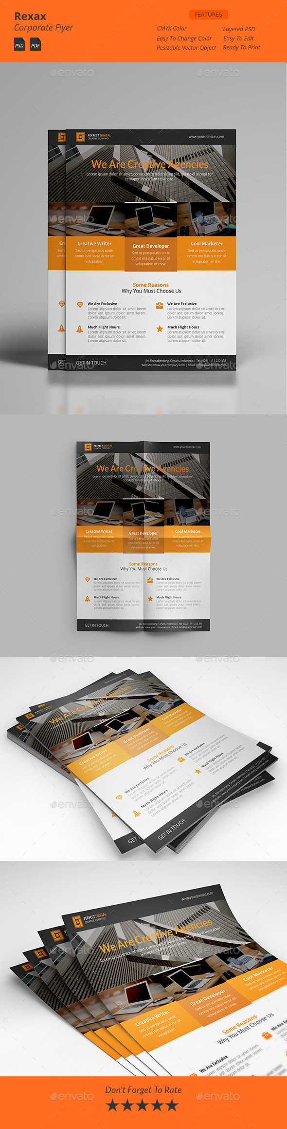 Rexax - Clean Corporate Flyers - Corporate Flyers