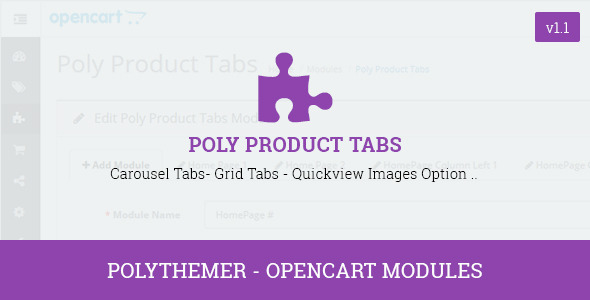 Poly Product Tabs Opencart 2 Module - CodeCanyon Item for Sale