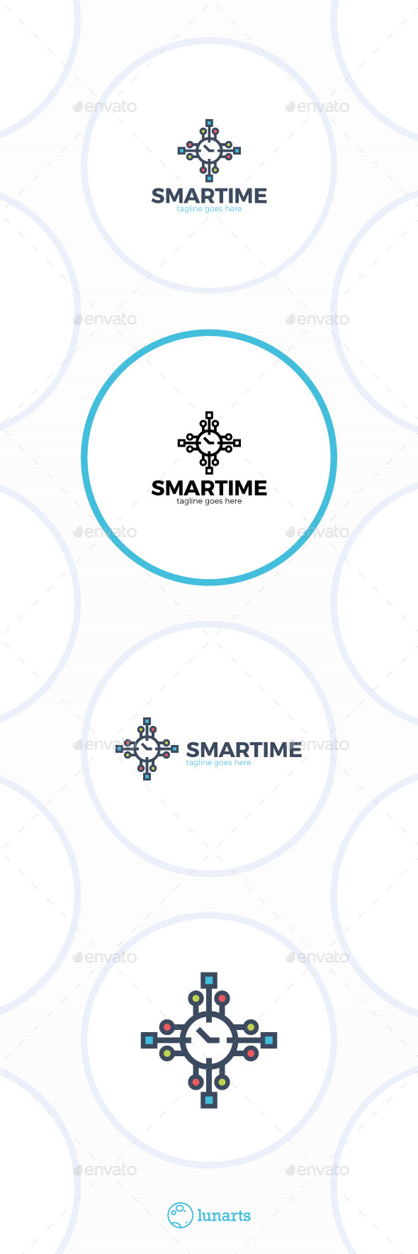 Smart Time Logo - Watch - Food Logo Templates