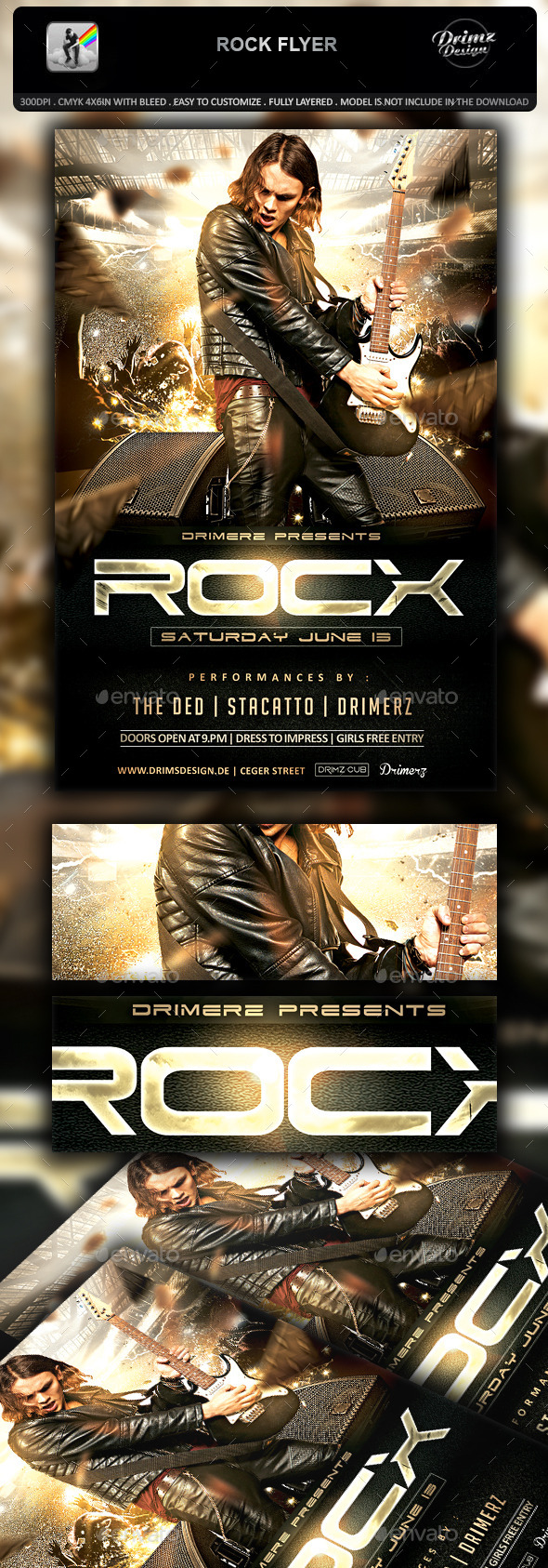 Rock Flyer - Events Flyers