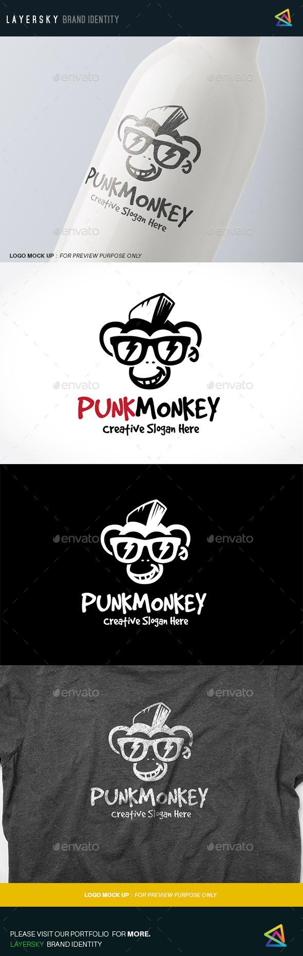 Punk Monkey - Animals Logo Templates
