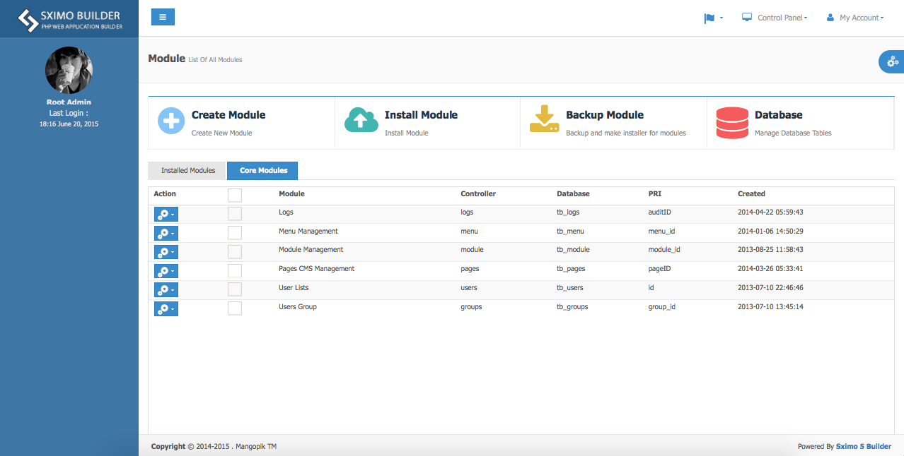Laravel Multi Purpose Application - CRUD - CMS - Sximo 5 LTS