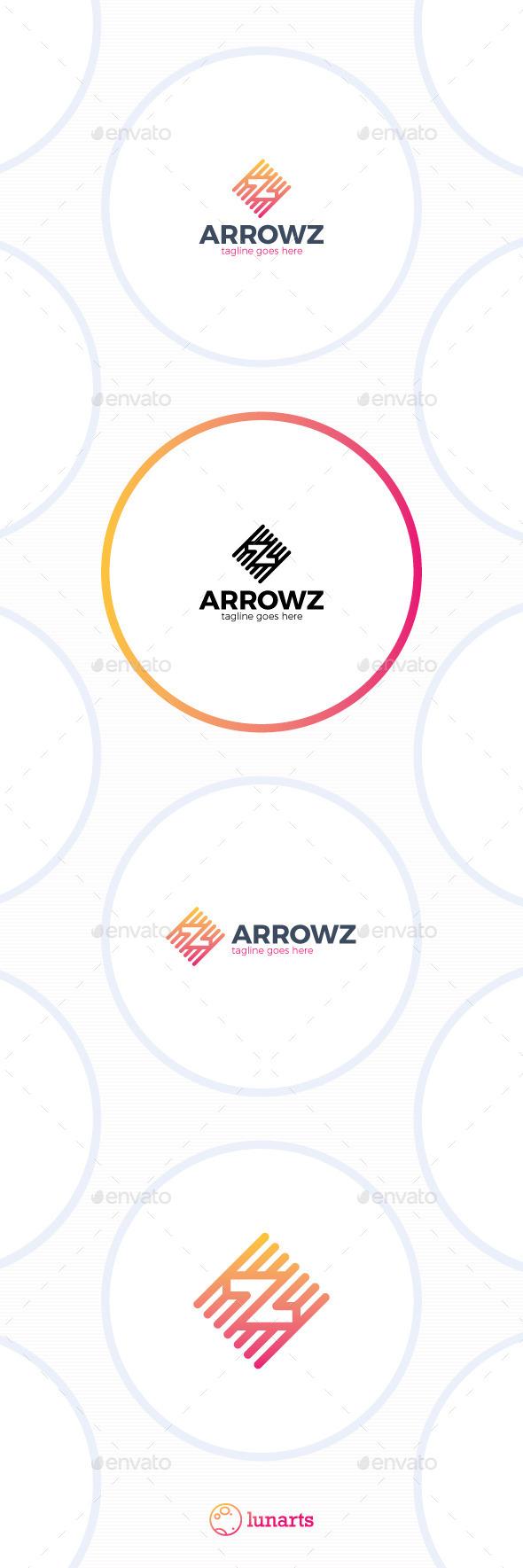 Double Arrow Line Logo - Letter Z - Letters Logo Templates