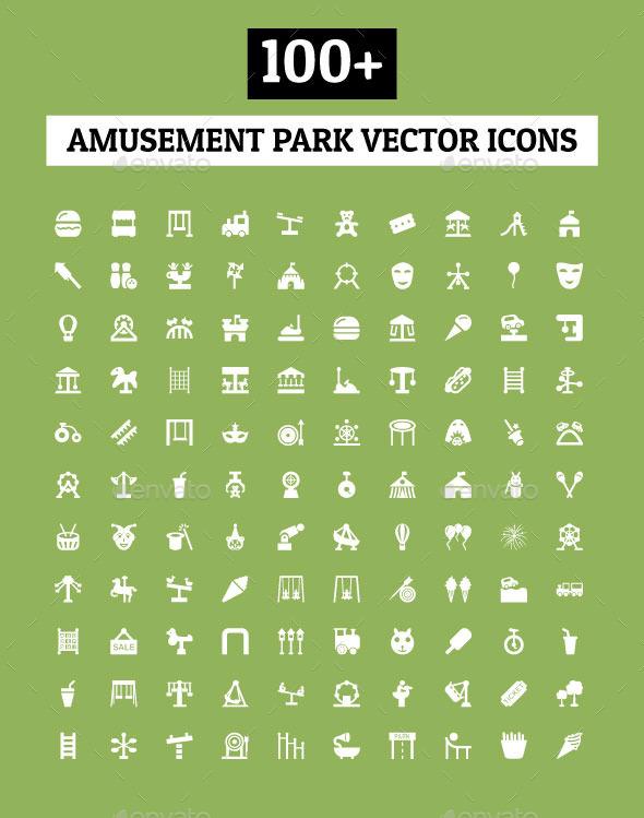 100+ Amusement Park Vector Icons - Icons