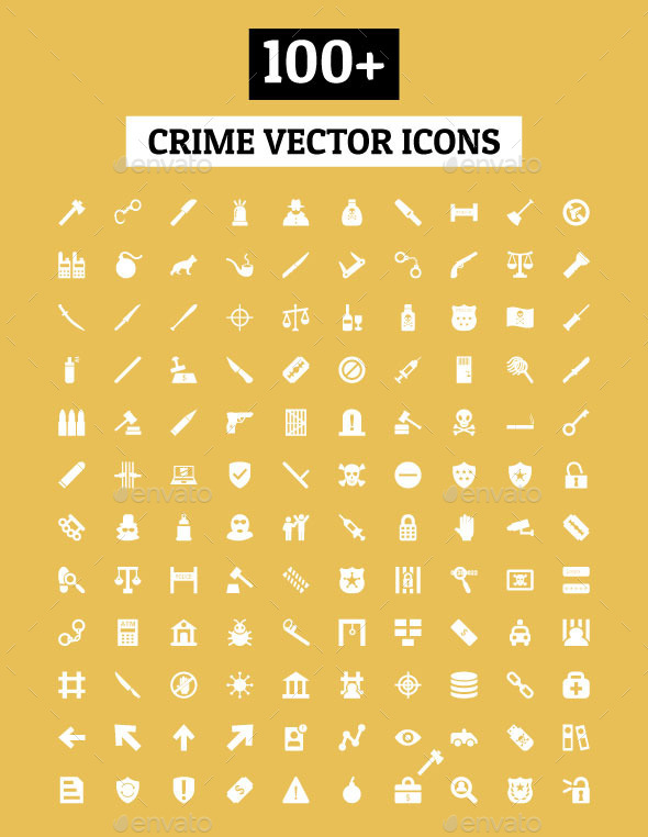100+ Crime Vector Icons - Icons