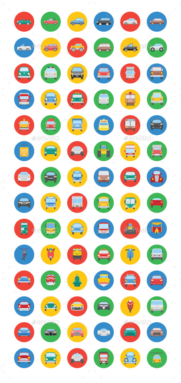 75+ Transport Vector Icons - Objects Icons