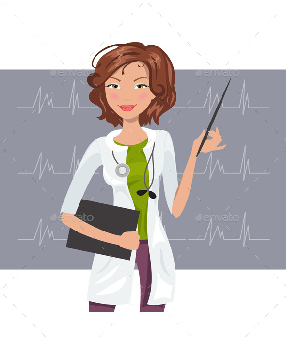 Woman Cardiologist - People Characters