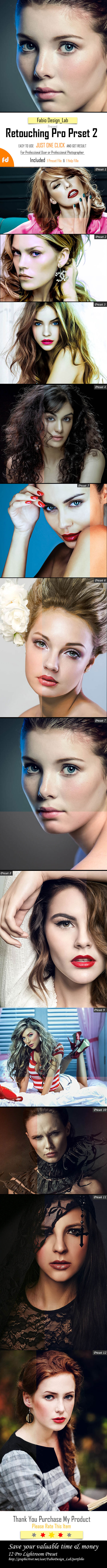 Retouching Pro Preset Vol.2 - Portrait Lightroom Presets