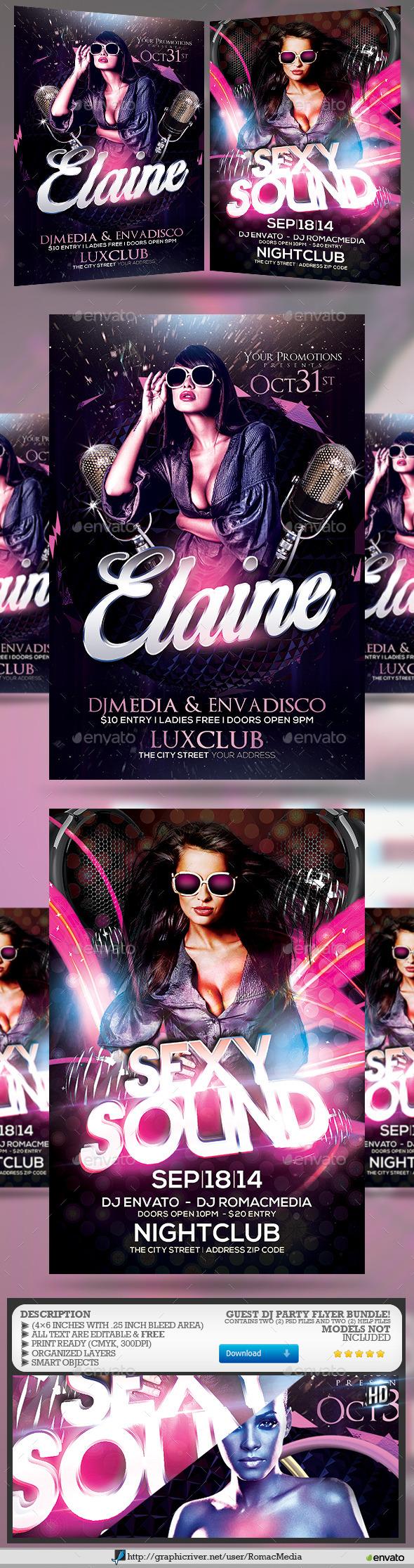 Guest DJ Party Flyer Bundle 3 - Clubs & Parties Events