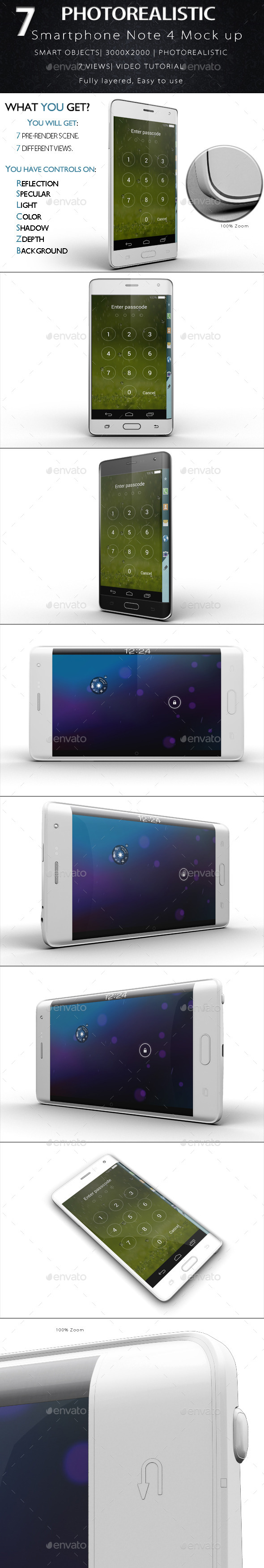 Galaxy Note Edge Smartphone Mock Up - Product Mock-Ups Graphics