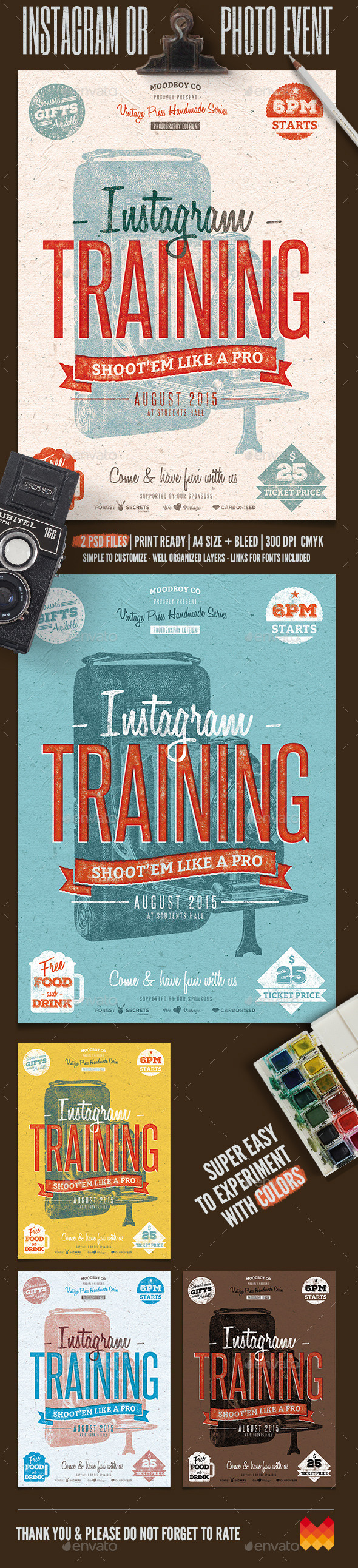 Instagram Photography Event Flyer/Poster - Flyers Print Templates