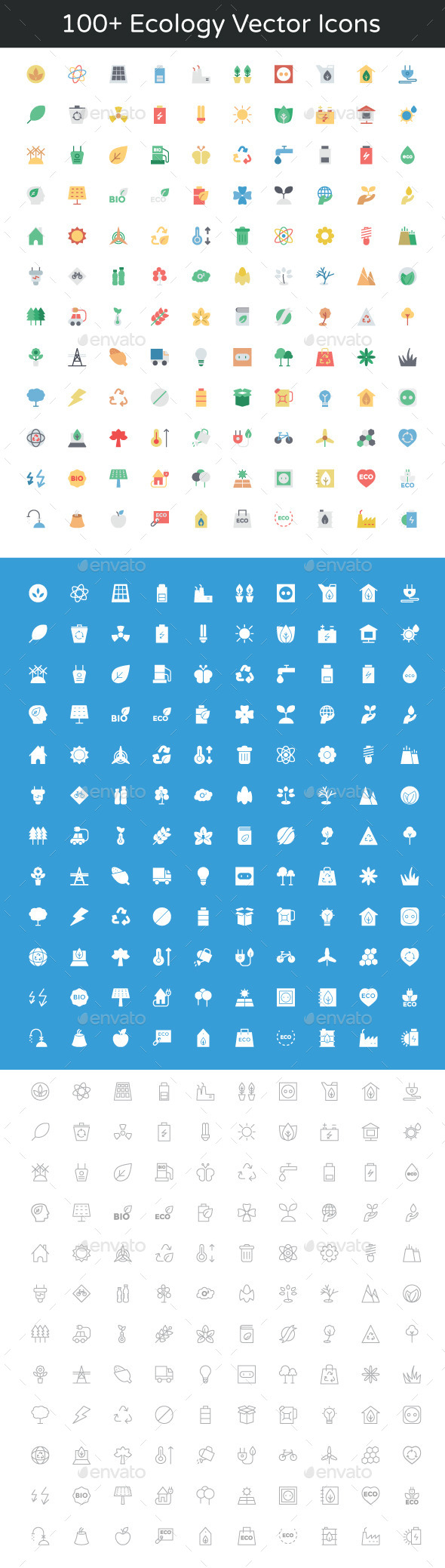 100+ Ecology Vector Icons - Icons
