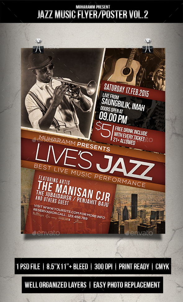 Jazz Music Flyer / Poster Vol.2 - Events Flyers