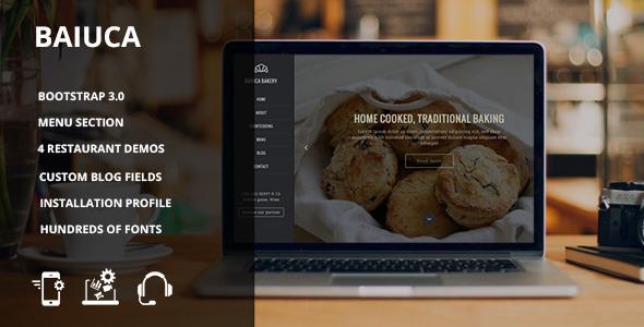 Baiuca – Drupal 7 restaurant template