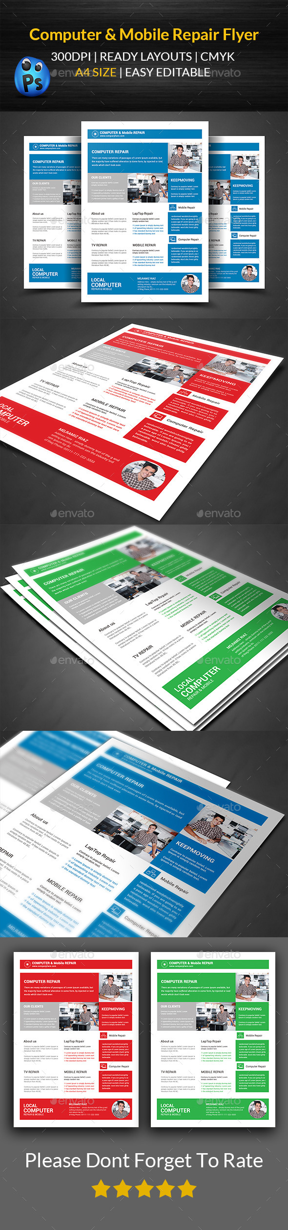 Computer & Mobile Repair Flyer Template  - Corporate Flyers