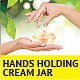 Hands Holding Cream Jar - GraphicRiver Item for Sale