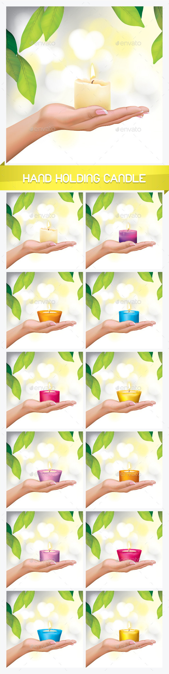 Woman Hand Holding Candle - Miscellaneous Vectors