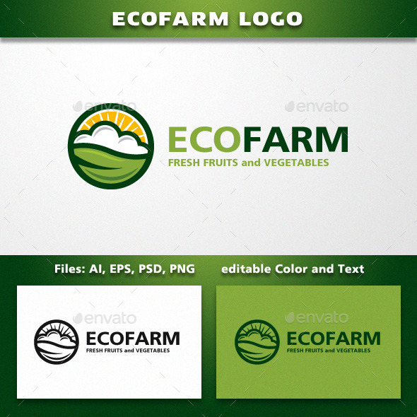 Farming or Landscaping Company Logo Template - Nature Logo Templates