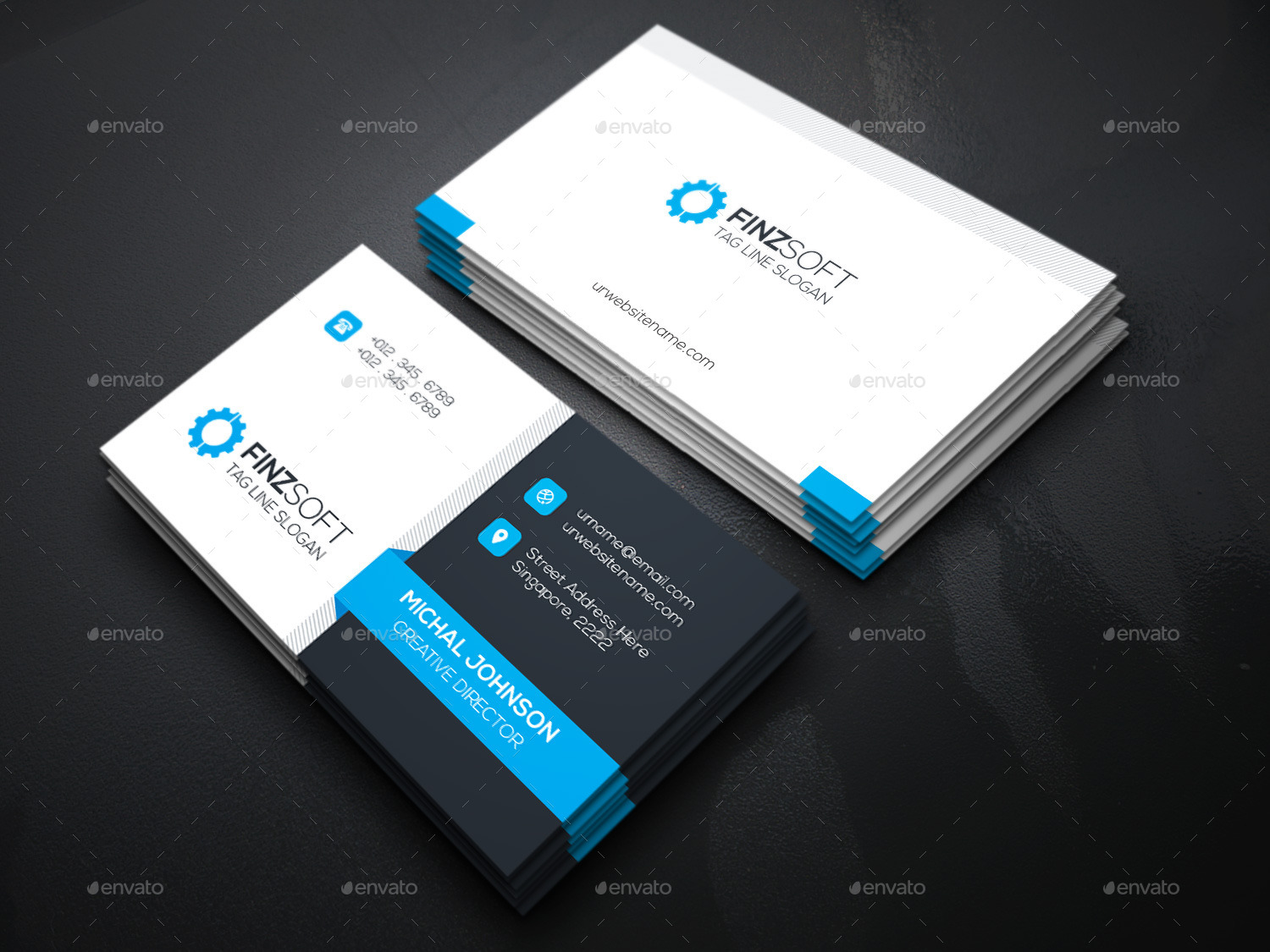 Finzsoft Business Cards by generousart | GraphicRiver
