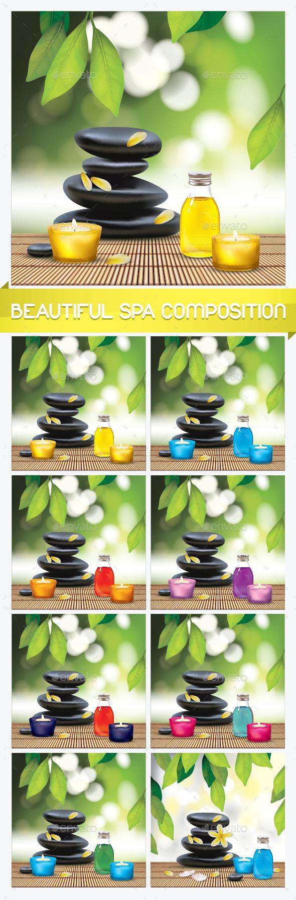 Spa Composition with Zen Stones - Miscellaneous Vectors
