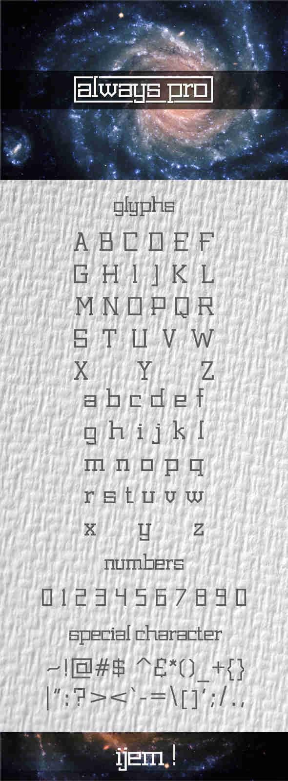 ALWAYS PRO font - Sans-Serif Fonts
