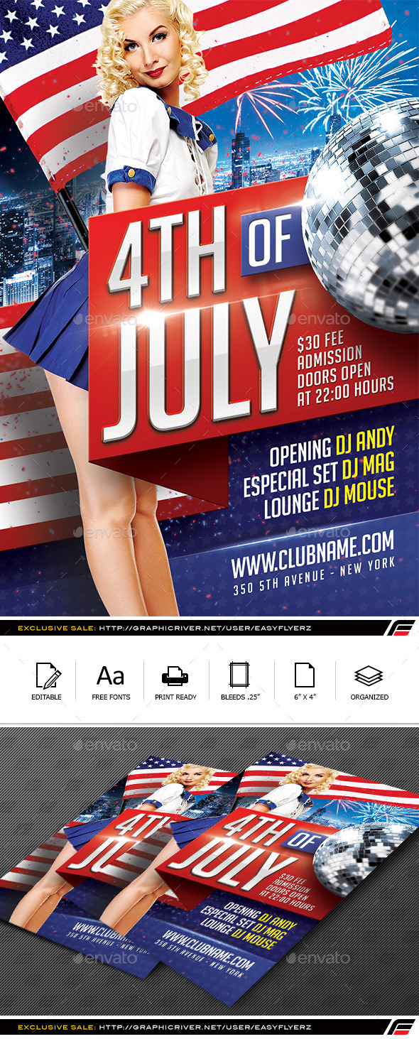 4TH of July Flyer Template Vol.02 - Events Flyers