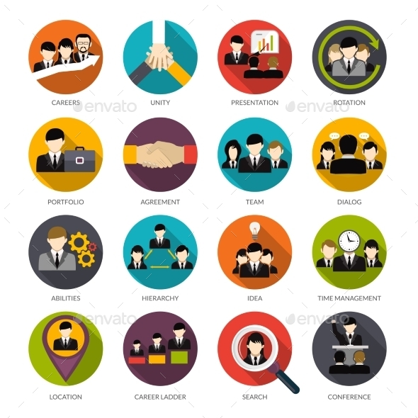Human Resources Icons Set - Business Icons