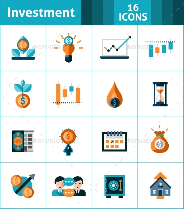 Investment Icons Set - Business Icons