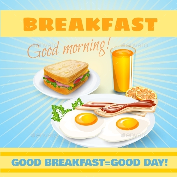 Breakfast Classical  Poster - Miscellaneous Conceptual