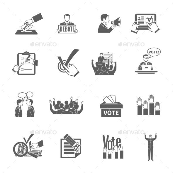 Election Icons Set - Miscellaneous Icons