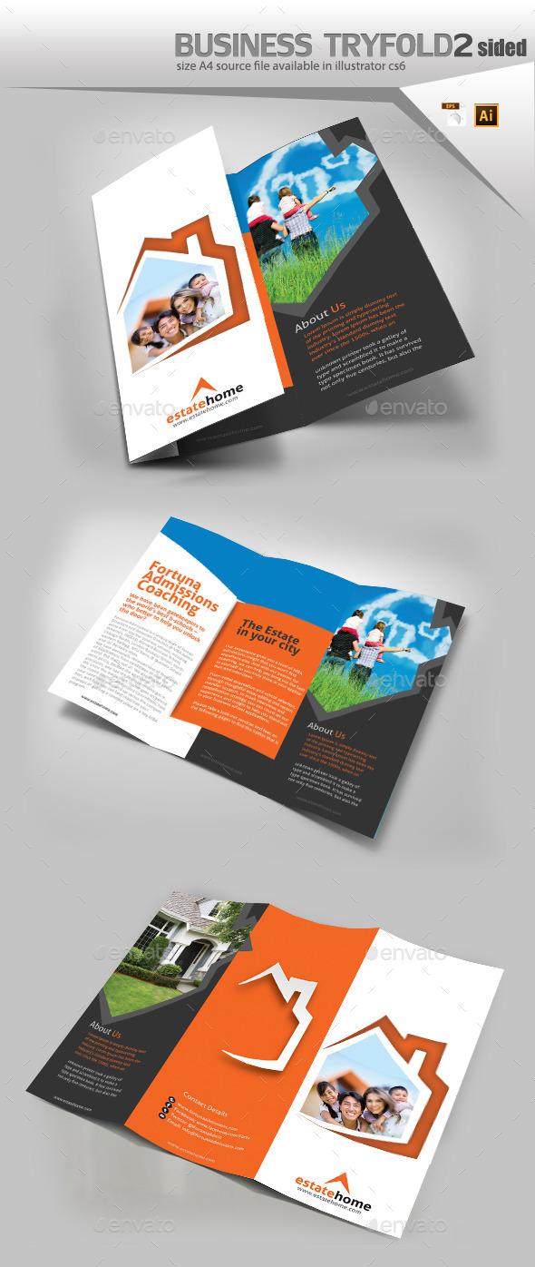 Real Estate Three Fold Brochure  - Print Templates