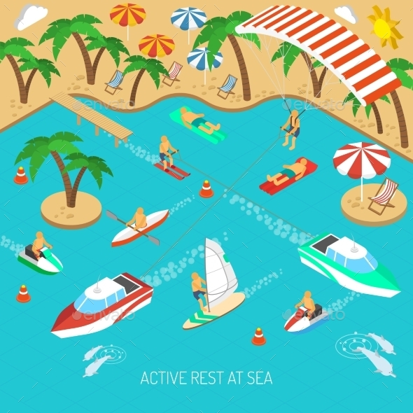 Active Rest at Sea Concept - Sports/Activity Conceptual