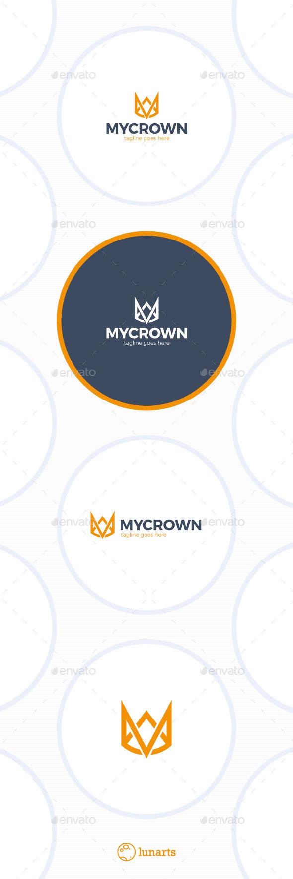 Line Crown Logo - Letter M - Letters Logo Templates