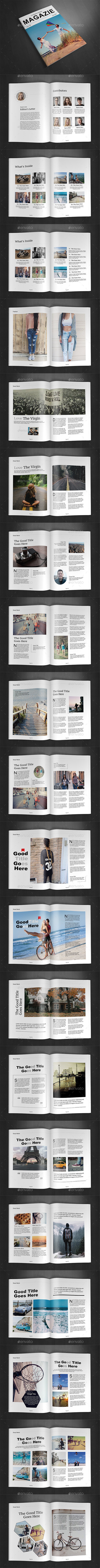 A4 Magazine Template Vol.15 - Magazines Print Templates