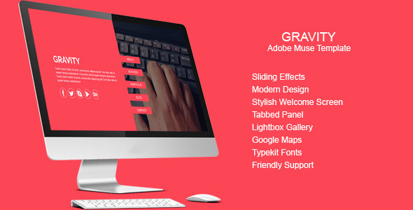 Gravity – Multi-purpose Muse Template