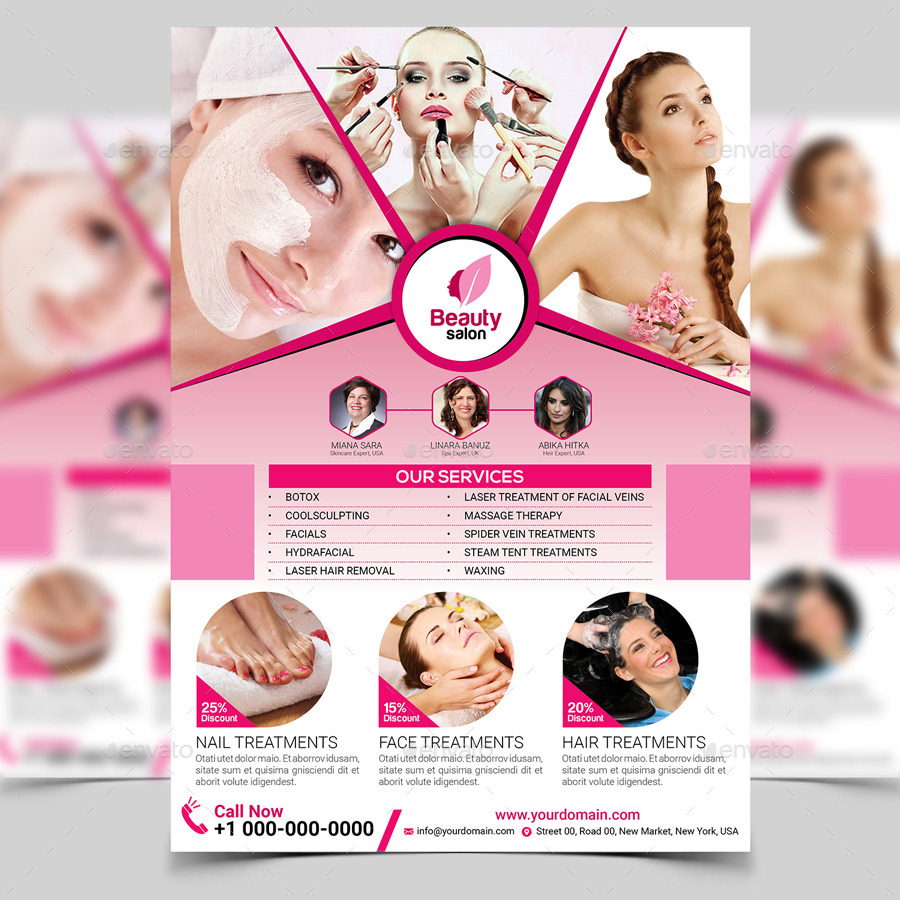 beauty salon flyer template by aam360 graphicriver