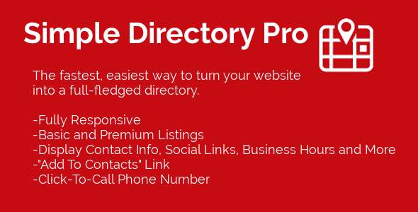 Simple Directory Pro for WordPress - CodeCanyon Item for Sale